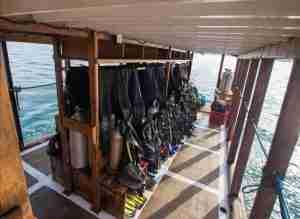 Day Trips Diving | Dive Deck | Manta Rhei Dive Center Komodo | Komodo Diving | Komodo Liveaboard