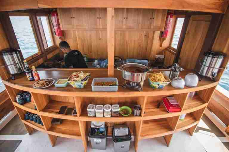 dive boat kitchen