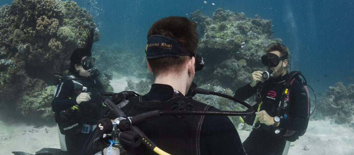 To try diving for the first time can be overwhelming but our instructors make sure you're safe.