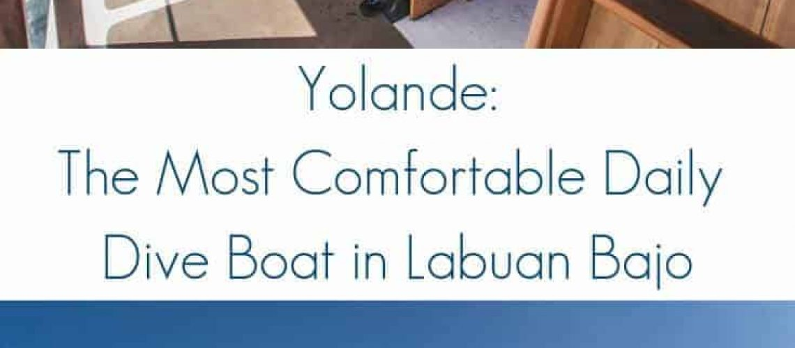 The impressive dive deck and on Yolande, the most comfortable dive boat in Labuan Bajo, sailing through Komodo National Park